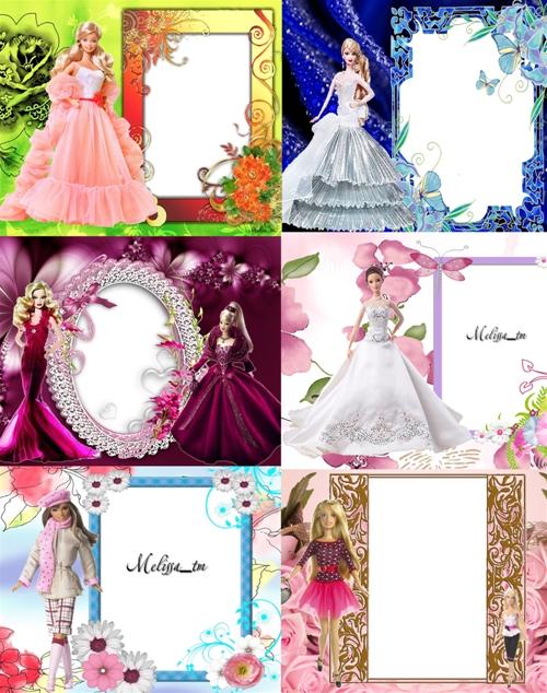 Рамки для девочек - Барби