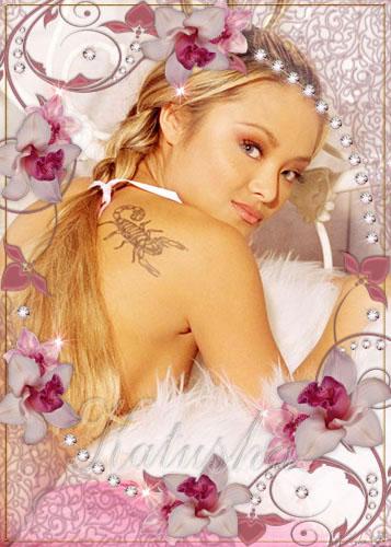 Рамочка для фото - Розовые орхидеи