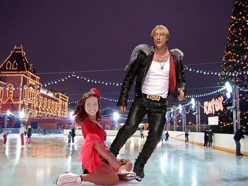 женские шаблоны для фотошопа:Звезды на льду.