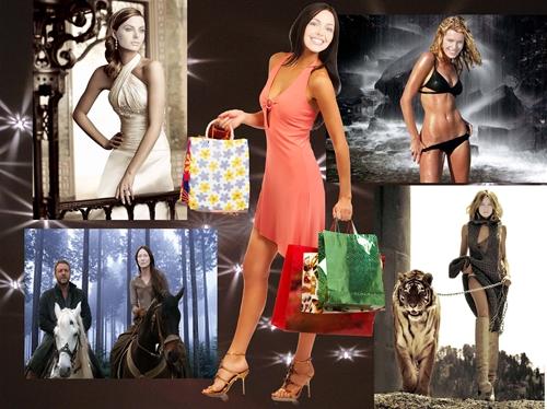 женские шаблоны для фотошопа - Красотки