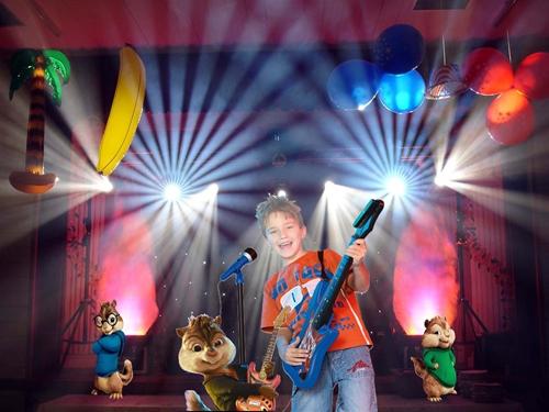 Детский шаблон для фотошопа:Рок звезда.