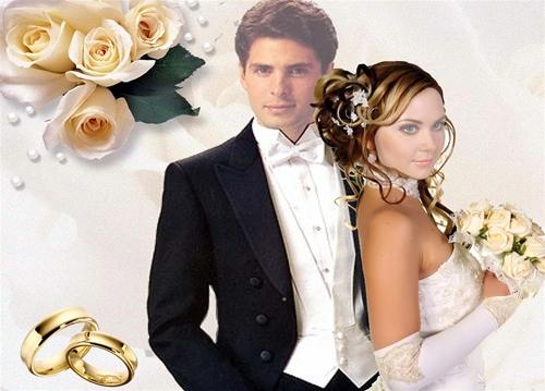 Свадебный шаблон для фотошопа: Свадебный.