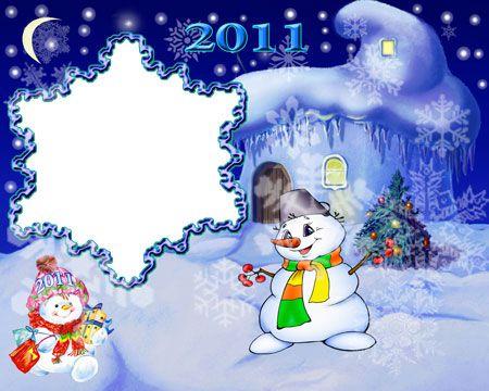 Рамка для фотошоп-Новогодняя снежинка