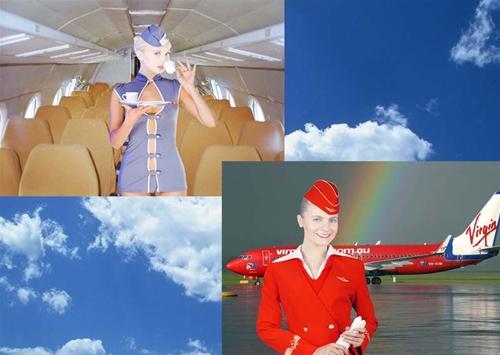 женские шаблоны для фотошопа:Стюардесса.