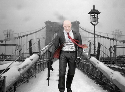 мужской шаблон для фотошоп: Hitman.