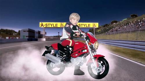 Детские шаблоны для фотошопа:мотокрос.
