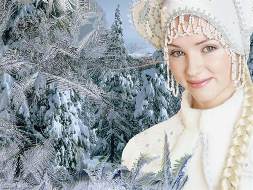 """женские шаблоны для фотошоп""""снегурочка"""""""
