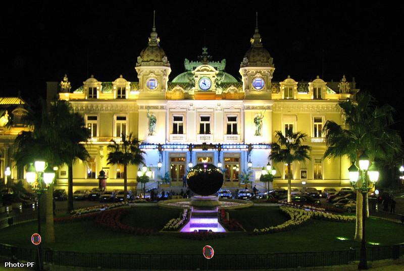 Казино, Монте-Карло, здание, ночная сьемка.