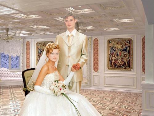 Свадебный шаблон для фотошопа: Совет да любовь.
