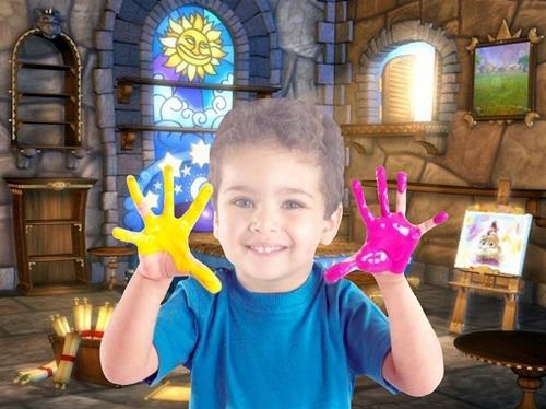 Детский шаблон для фотошопа:Маленький художник.