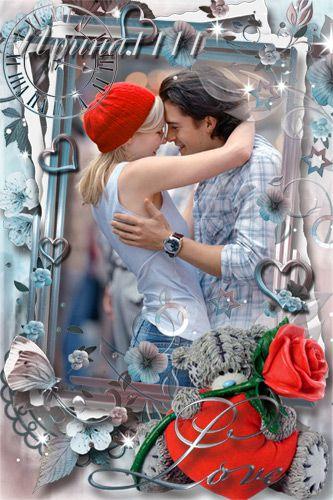 Рамка для Photoshop - Время для любви