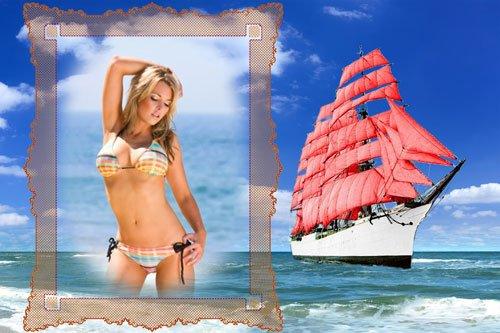 Рамка для фото-Алые паруса