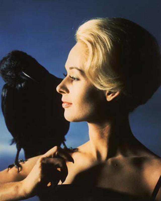 Птица по-настоящему поранила лицо Типпи Хедрен в одной из сцен фильма. *В фильме