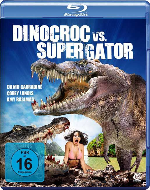 Динокрок против динозавра / Dinocroc vs. Supergator (2010/HDRip/1400Mb/700Mb)