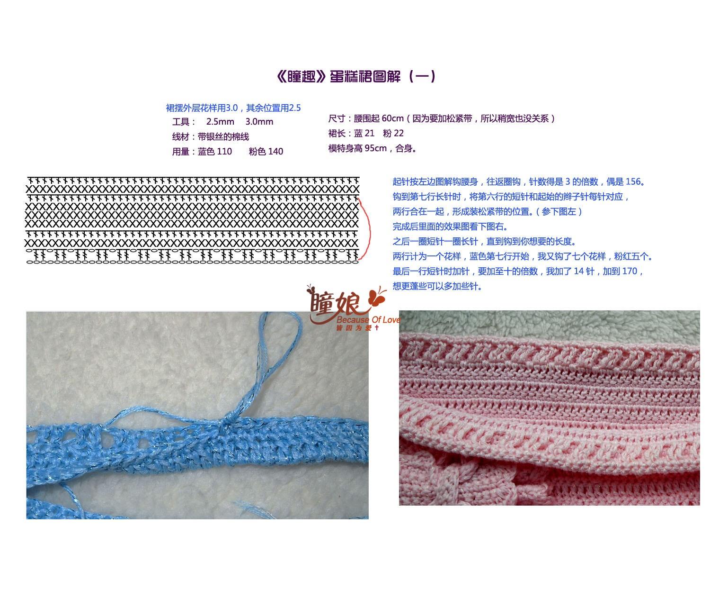 Как начать вязание юбки крючком