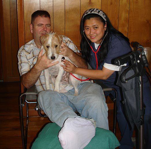 Собака спасла хозяину жизнь