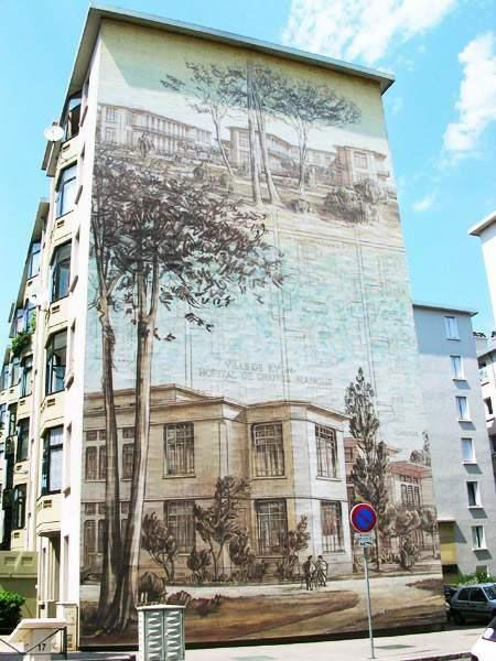Рисунки на домах