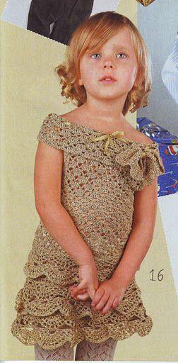 связать крючком платье для девочки описание схемы.