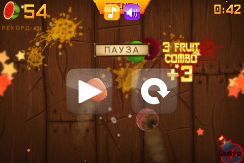 Fruit Ninja 1.7.7 [RUS][Android] (2012)