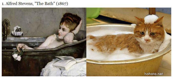 Кошки подражают искусству. Или наоборот?