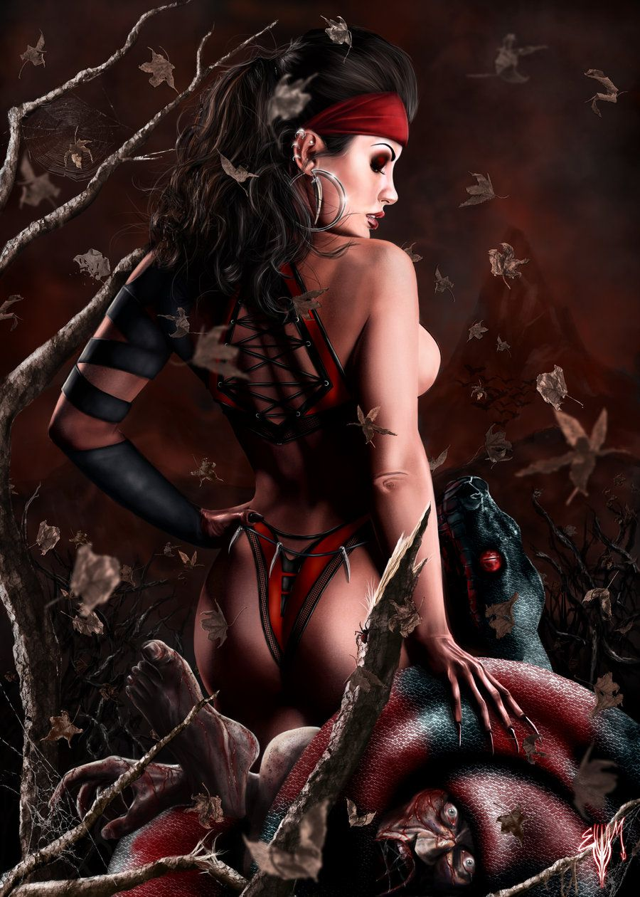Adult demon fantasy art sexy women