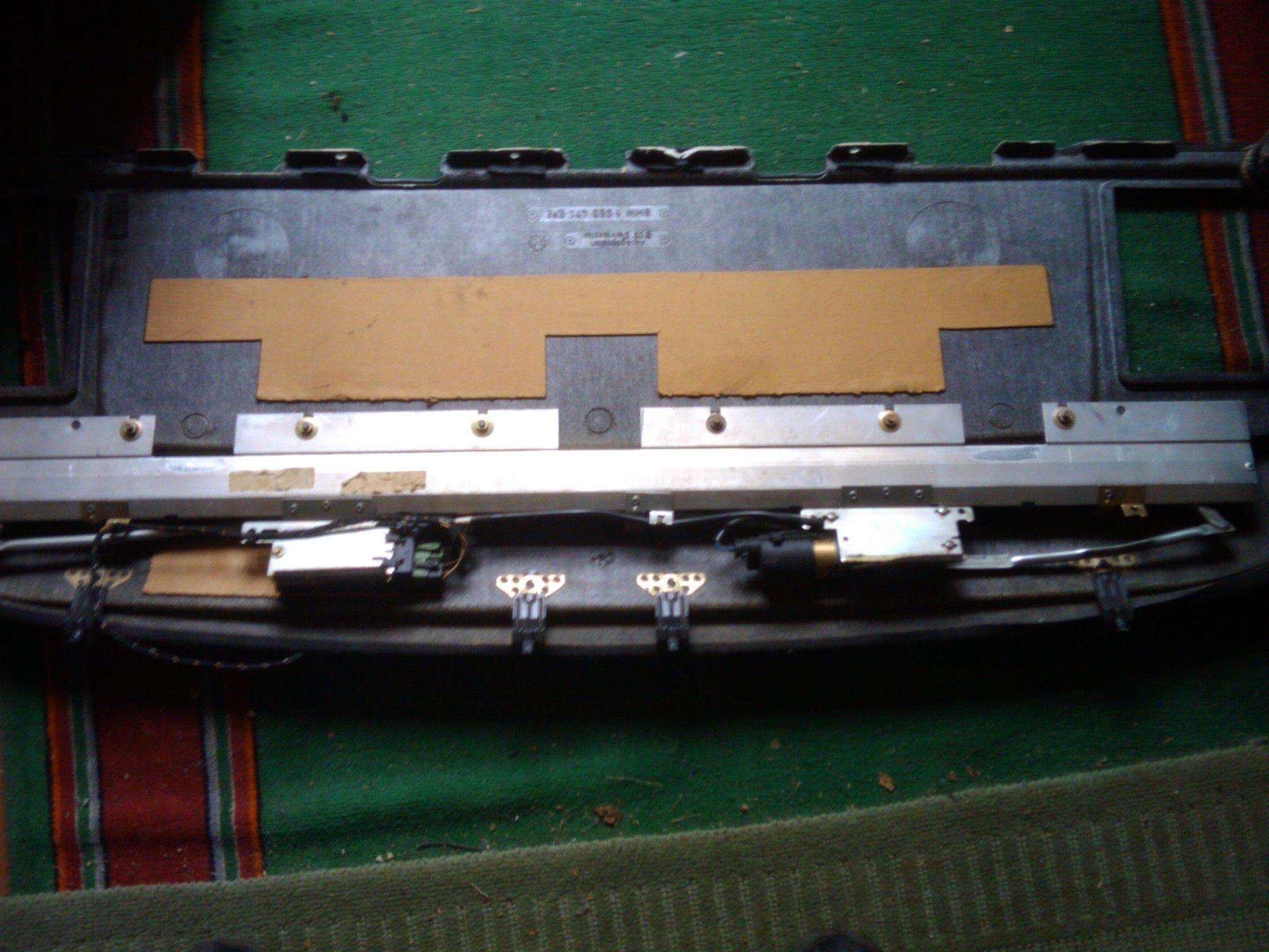 bmw e39 электрошторка как снять
