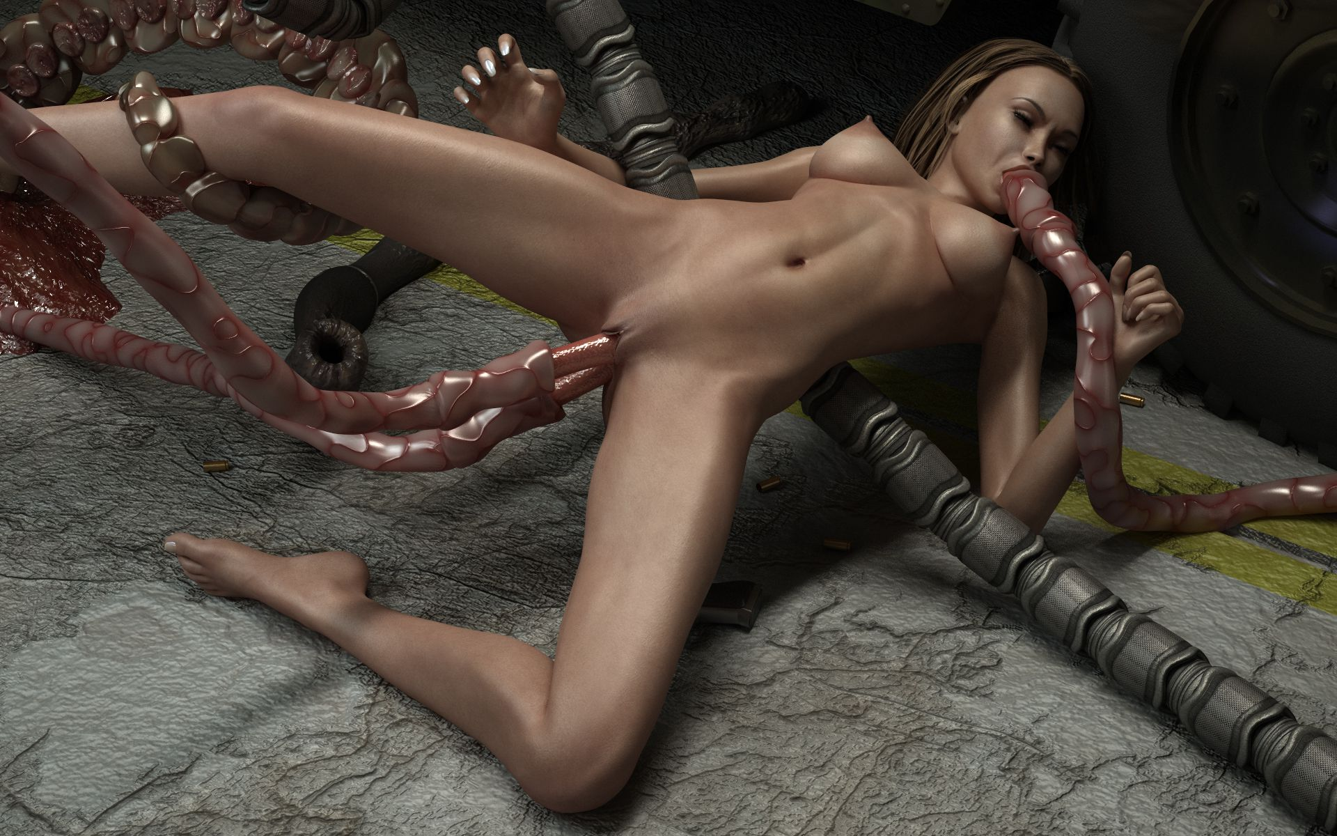Monster 3d girl nude hentay tube