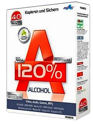 Alcohol 120% v2.0.2 Build 5830 Retail (лекарство Cracked-F4CG)