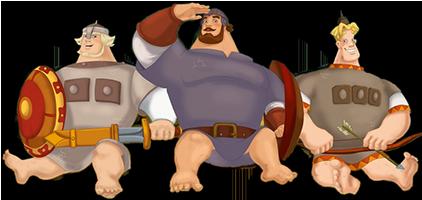 Картинки анимации богатыри