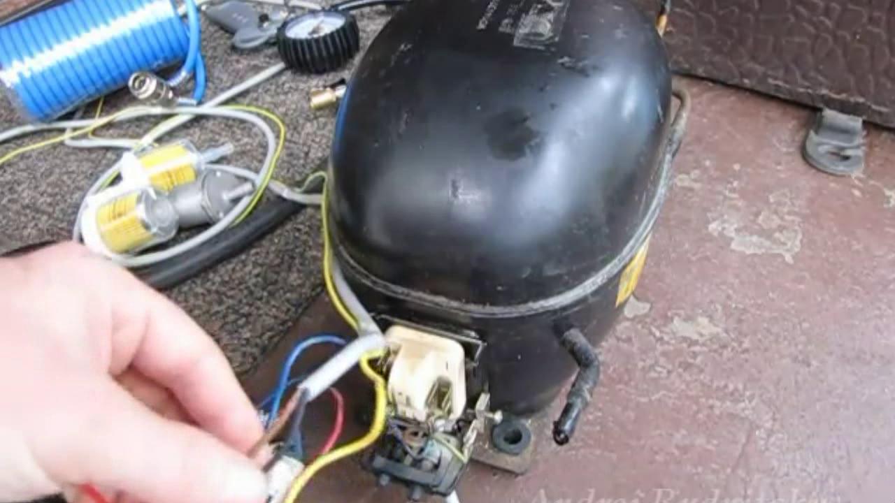 Компрессор из холодильника своими руками для накачки колес