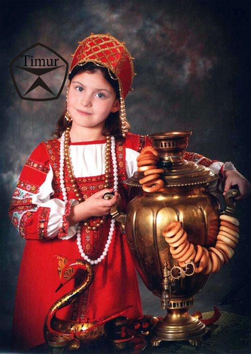 Детский шаблон для фотошопа - Чаепитие
