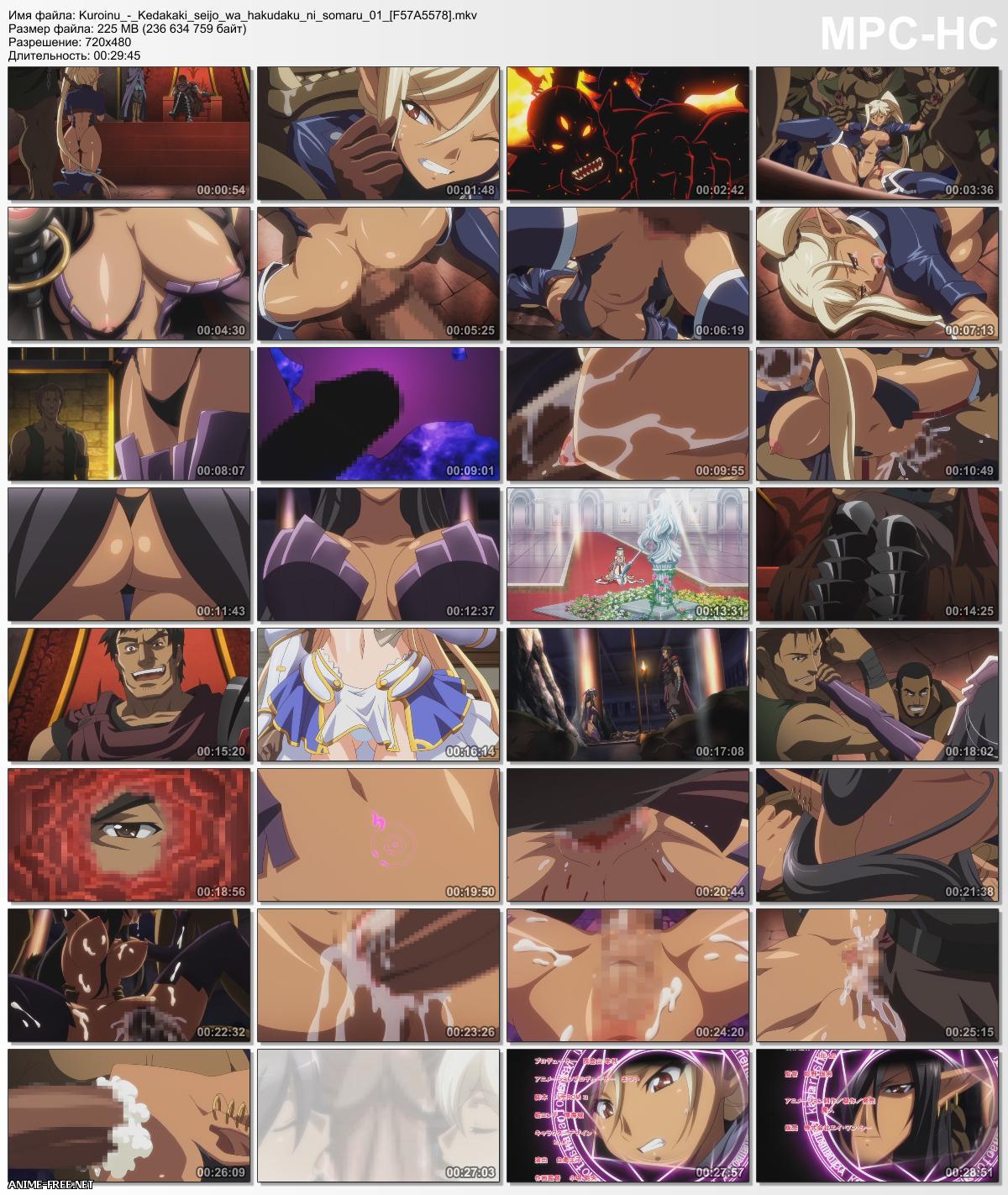Kuroinu: Kedakaki Seijo wa Hakudaku ni Somaru / Kuro kemono / Чёрный Зверь - Осквернение благородной жрицы [Ep.1-5] [ENG,RUS,JAP] Anime Hentai