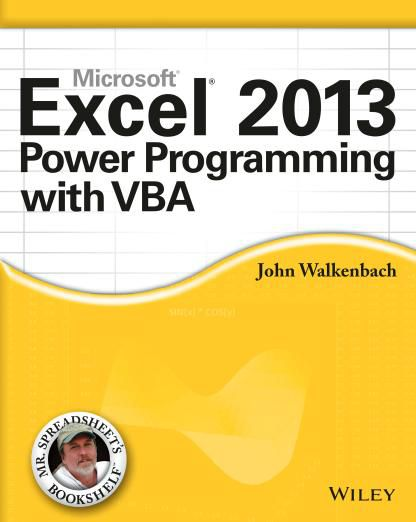 Excel 2013 Power Programming with VBA (PDF)