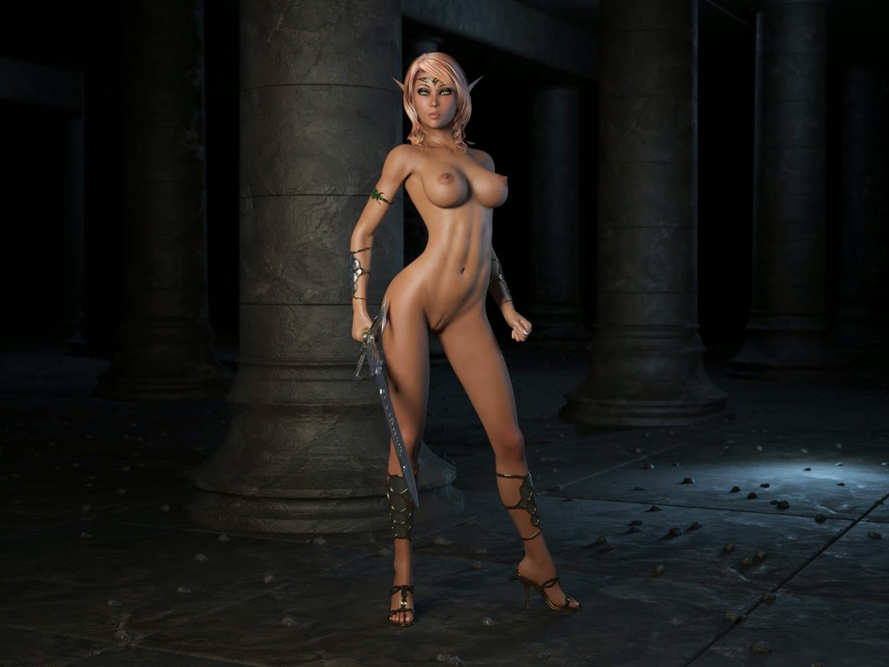 Nude elves free cartoon scenes
