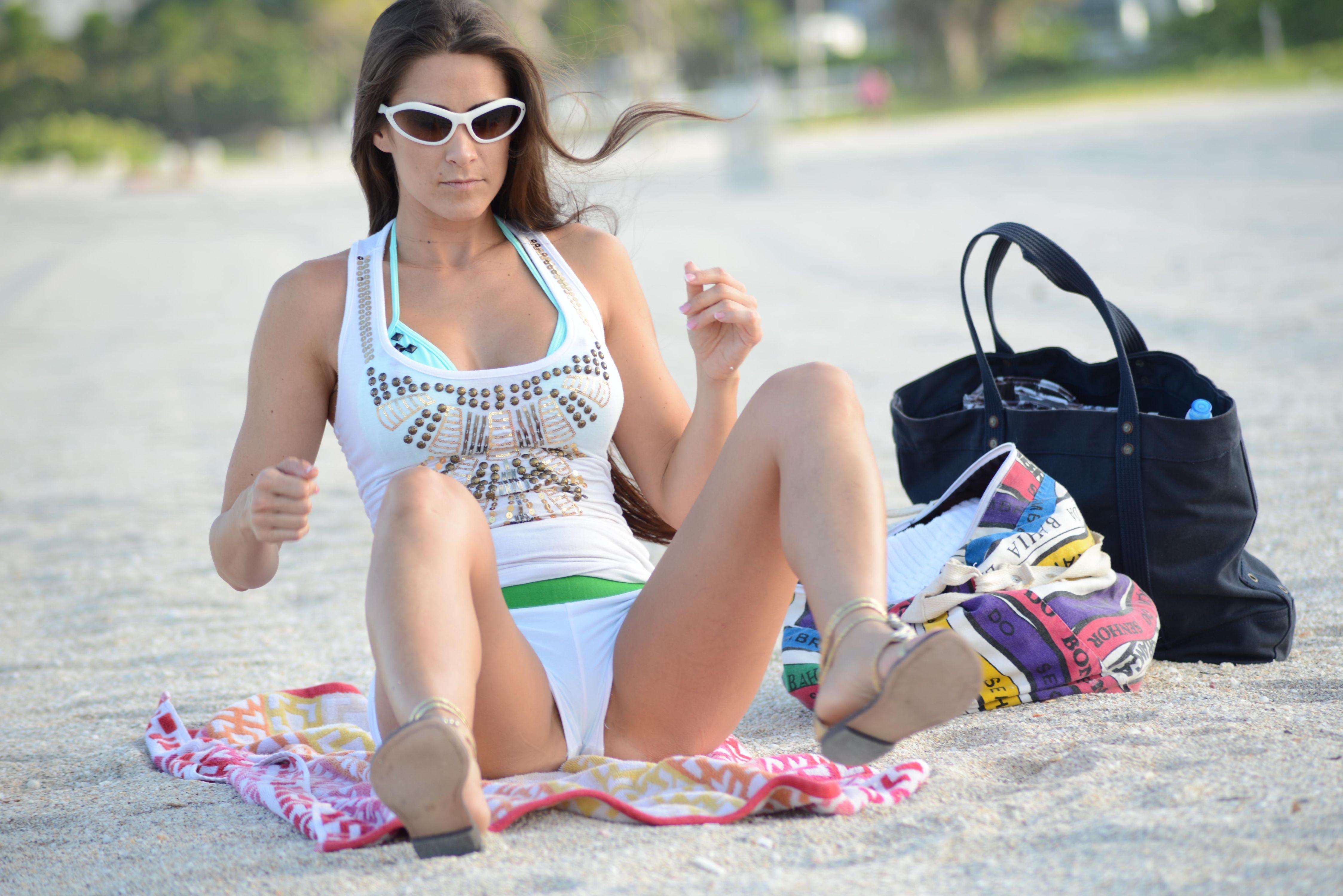 Indian bikini panty crotch on beach hijab porn