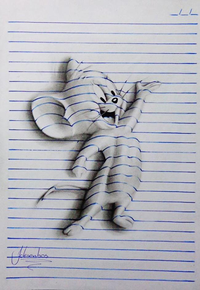 Объемные рисунки в вашем блокноте 4