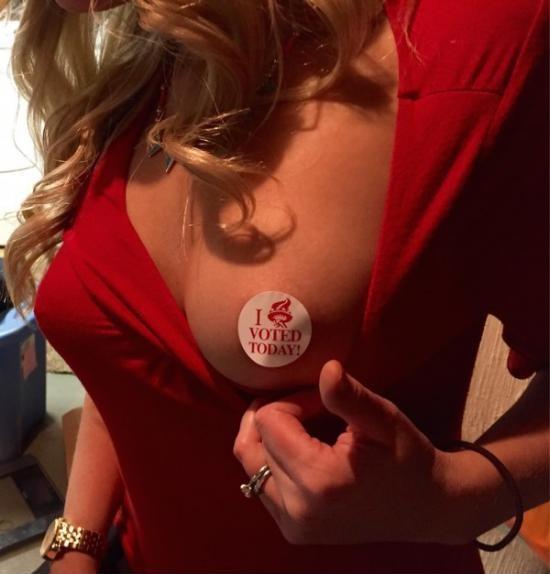 Я проголосовала сегодня 1
