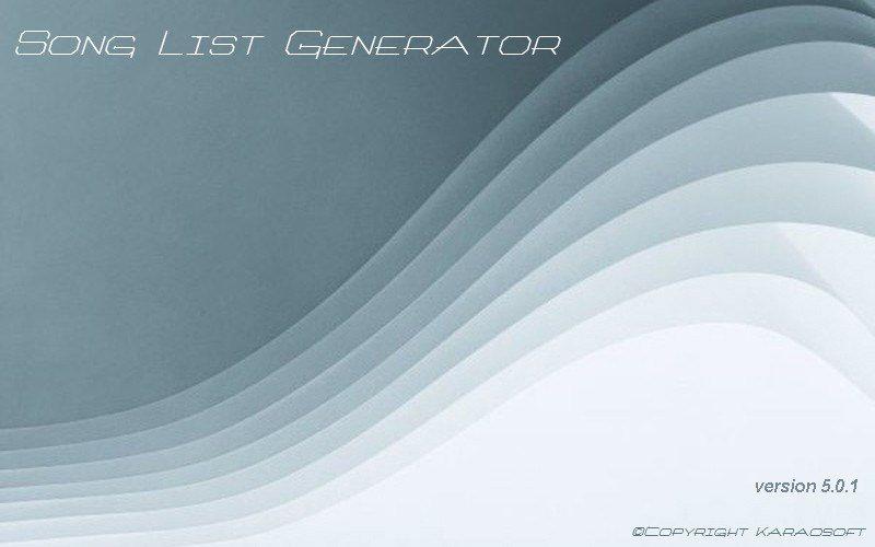 Song List Generator 5.0.1
