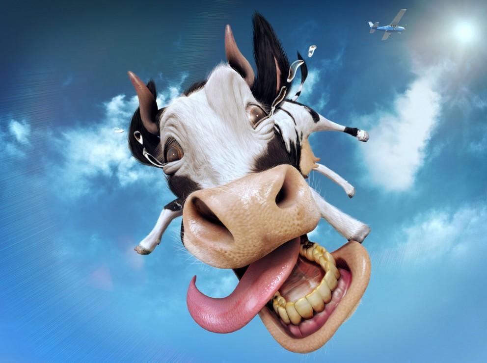Корова с неба 1