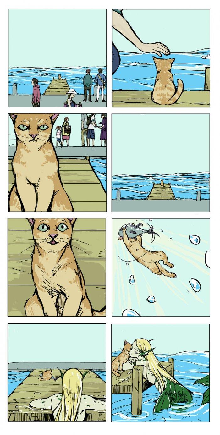 Русалка и котик 1
