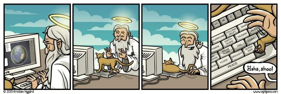 Котейка на клавиатуре