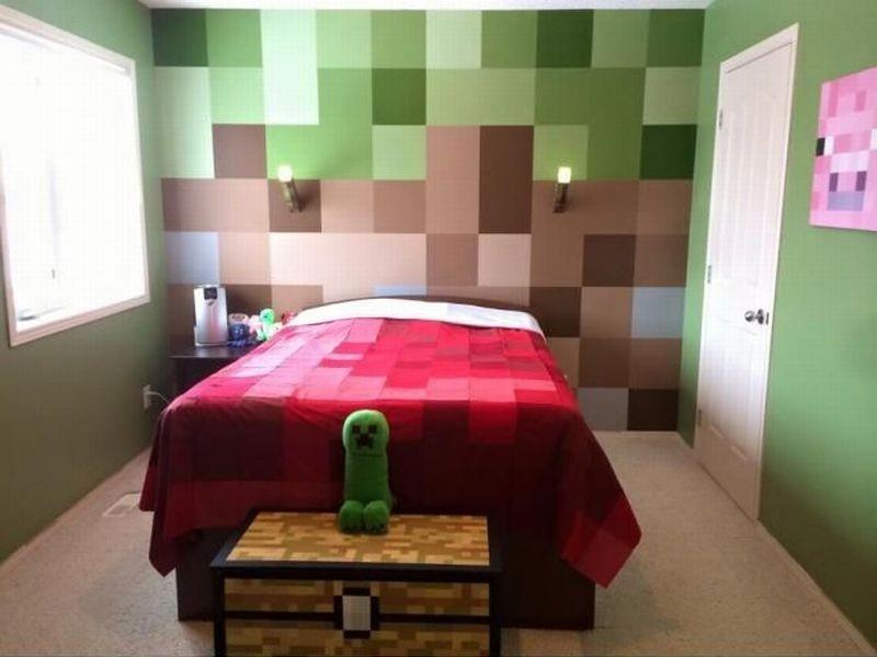 Комната в стиле minecraft