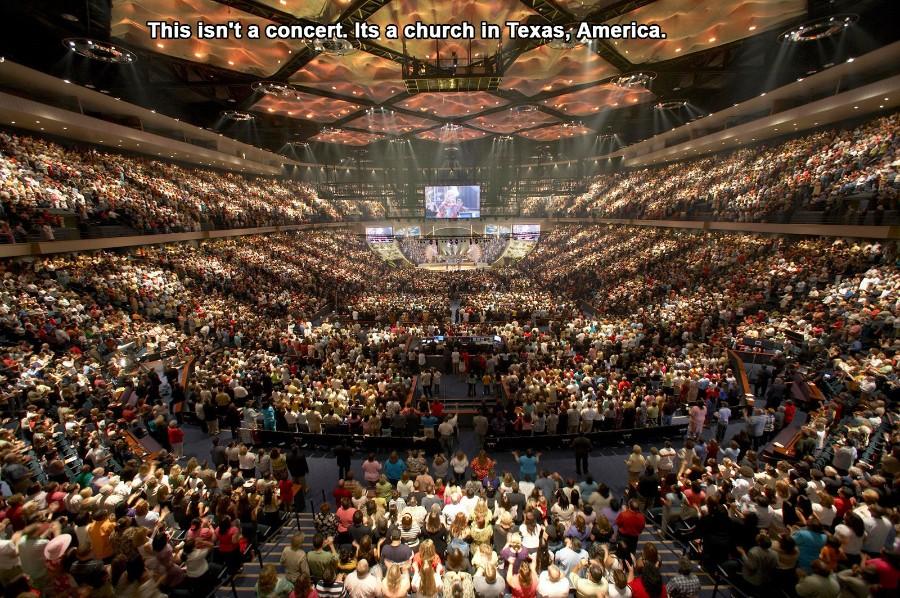 Это не концерт, а церковь в Техасе