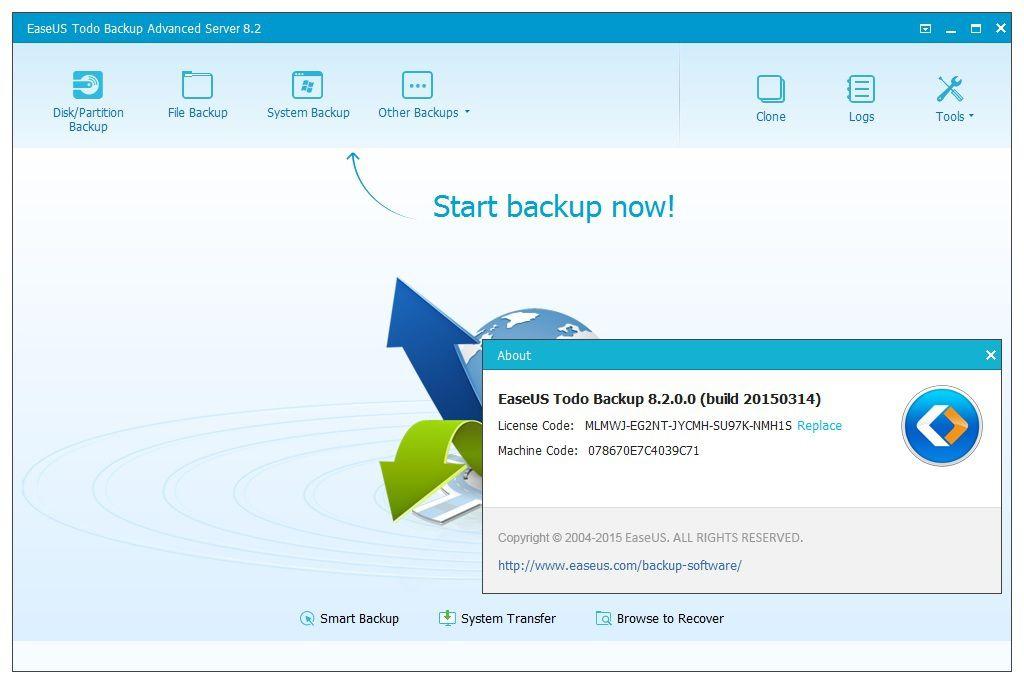 EaseUS Todo Backup Advanced Server 8.2.0.0-TSZ