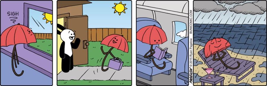 Зонтик в отпуске