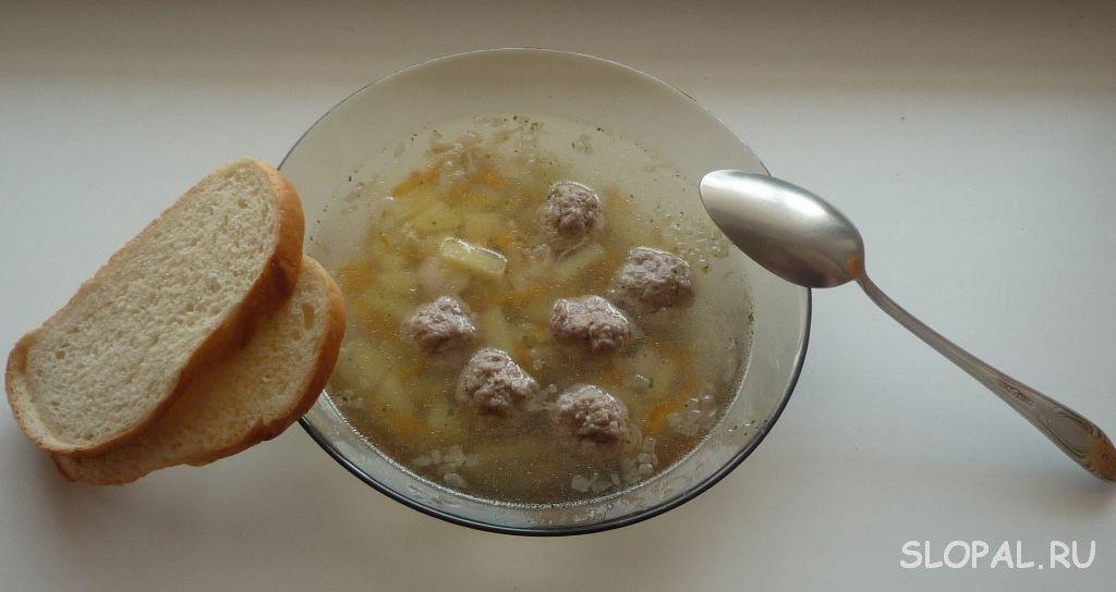 Суп с котлетами