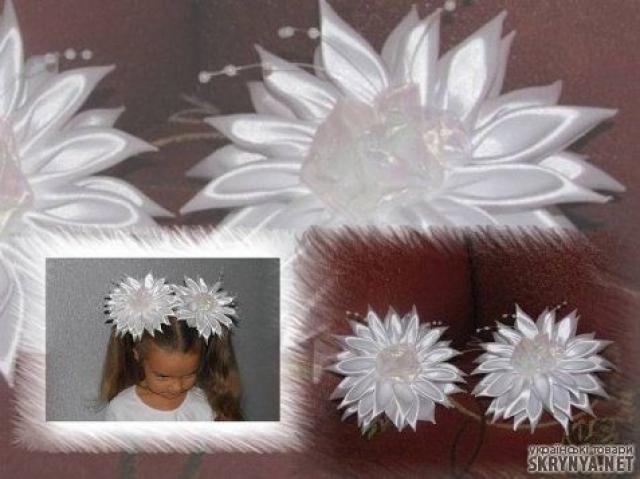 Цветы из лент своими руками на 1 сентября 1