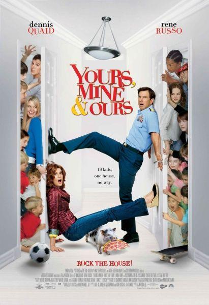 Твои, мои и наши / Yours, Mine & Ours (Раджа Госнелл / Raja Gosnell) [2005, США, комедия, семейный, мелодрама, BDRip 720p] Dub (Невафильм) + AVO (Евгений Гранкин) + Sub Rus, Eng + Original Eng