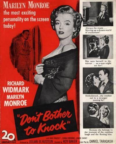 Можешь не стучать / Dont bother to knock (Рэй Уорд Бэйкер / Ray Ward Baker) [1952, США, триллер, HDTVRip] MVO (ВГТРК 1 Канал) + MVO (DVD Магия) + Original Eng