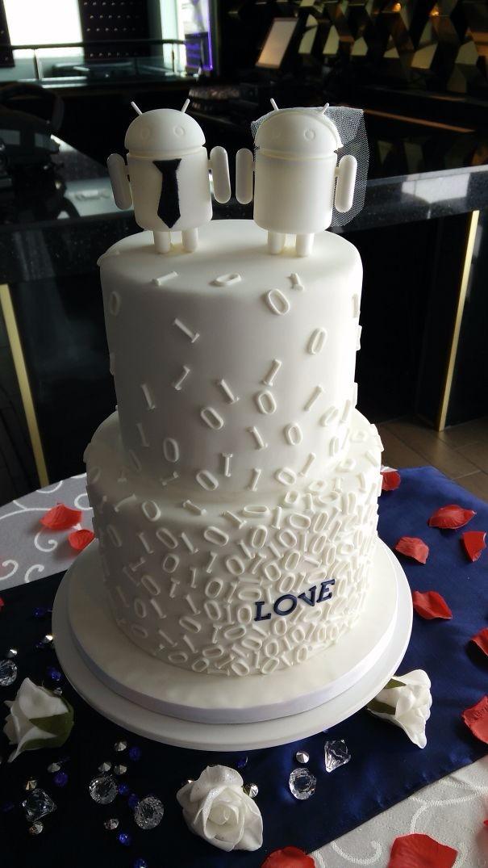 Свадебно-андроидный тортик